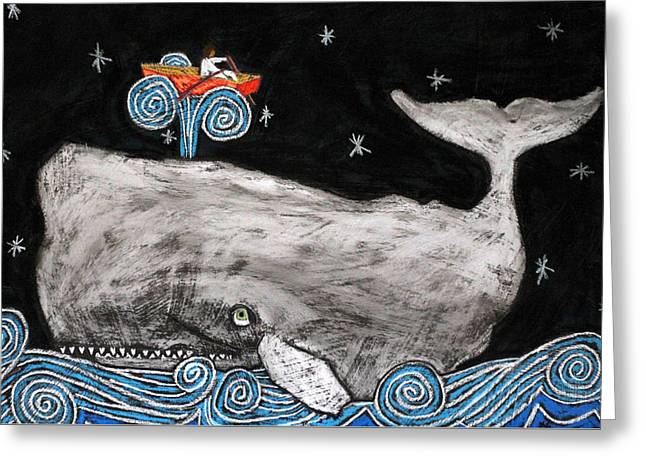 Jonah And The Whale Greeting Card by David Hinds
