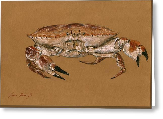 Blue Crab Greeting Cards - Jonah Crab Greeting Card by Juan  Bosco