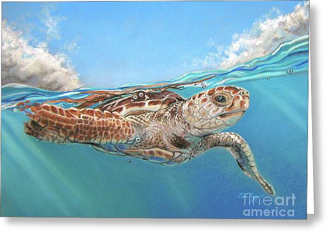 Beach Pastels Greeting Cards - Jonah Greeting Card by Deb LaFogg-Docherty
