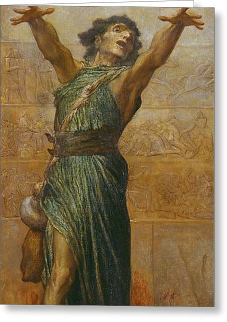 Jonah Greeting Card by George Frederic Watts