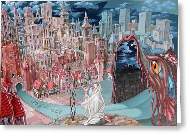 Jonah Paintings Greeting Cards - Jonah  Greeting Card by Victor Molev