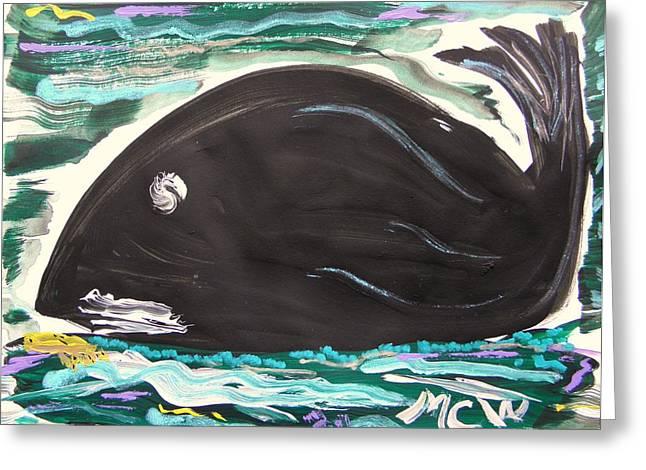 Jonah Drawings Greeting Cards - Jonahs Friend Greeting Card by Mary Carol Williams