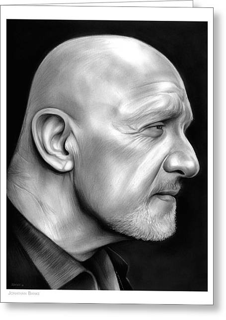 Jonathan Banks Greeting Card by Greg Joens
