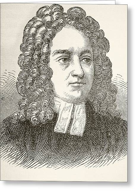 Gullivers Greeting Cards - Jonathan Swift 1667 To 1745. Anglo Greeting Card by Ken Welsh