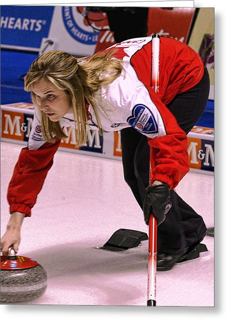 Curling Greeting Cards - Jones in the Hack Greeting Card by Lawrence Christopher