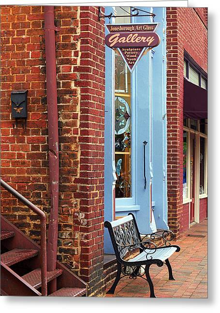 Main Street Corners Greeting Cards - Jonesborough Tennessee Main Street Greeting Card by Frank Romeo