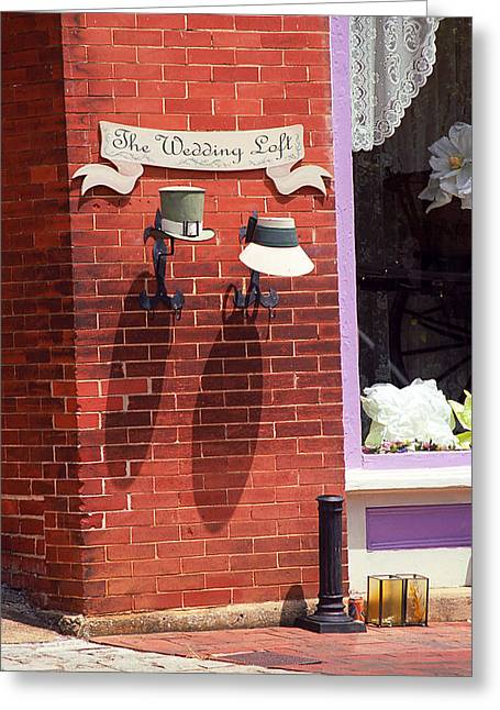 Main Street Greeting Cards - Jonesborough Tennessee - Wedding Shop Greeting Card by Frank Romeo
