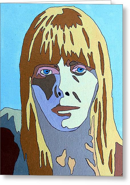 Joni Greeting Cards - Joni Mitchell Greeting Card by Murray Stiller