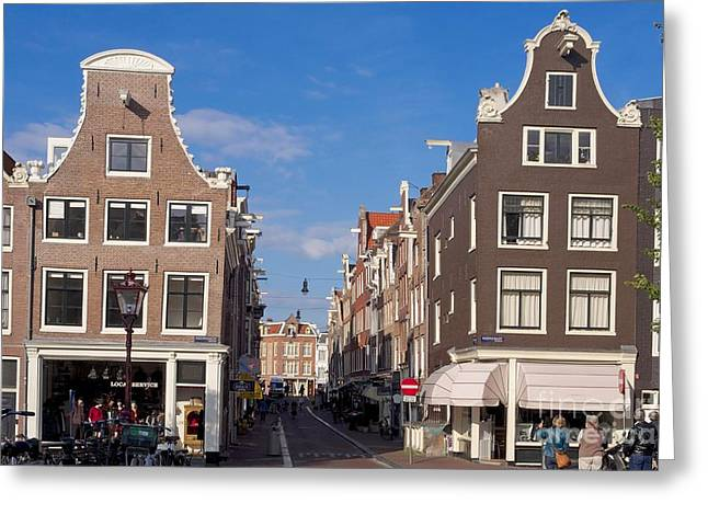 City Buildings Greeting Cards - Jordaan area. Amsterdam. Netherlands. Europe Greeting Card by Bernard Jaubert