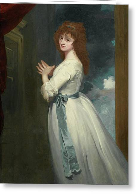 Jordan As Peggy In The Country Girl Greeting Card by George Romney