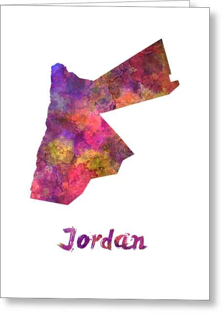 Jordan  In Watercolor Greeting Card by Pablo Romero