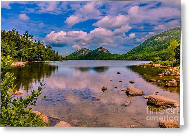 Jordan Greeting Cards - Jordan pond - Acadia National Park Greeting Card by Claudia Mottram