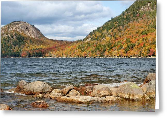 Jordan Pond - Acadia National Park Greeting Card by Nikolyn McDonald