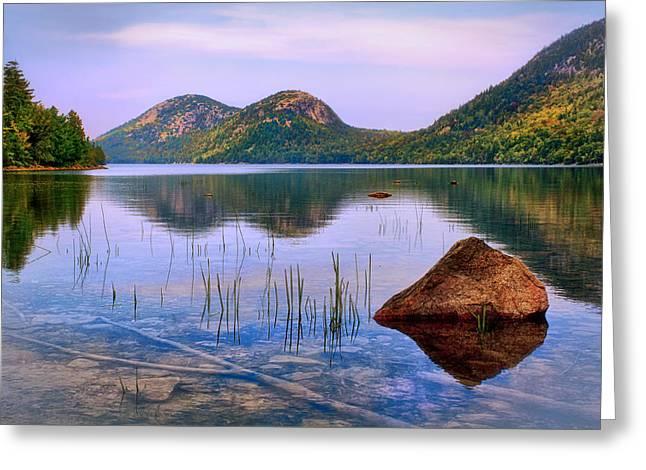 Jordan Trail Greeting Cards - Jordan Pond in Acadia National Park Greeting Card by Carolyn Derstine