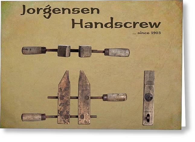 Jorgensen Handscrew Greeting Card by Tom Mc Nemar
