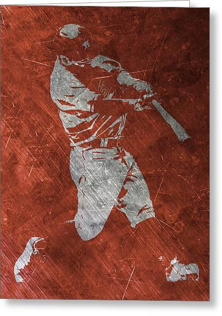 Jose Altuve Houston Astros Art Greeting Card by Joe Hamilton