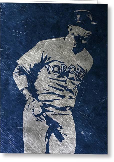 Jose Bautista Toronto Blue Jays Art Greeting Card by Joe Hamilton
