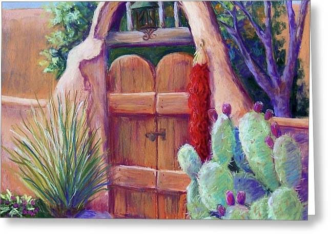 Josefina's Gate Greeting Card by Candy Mayer
