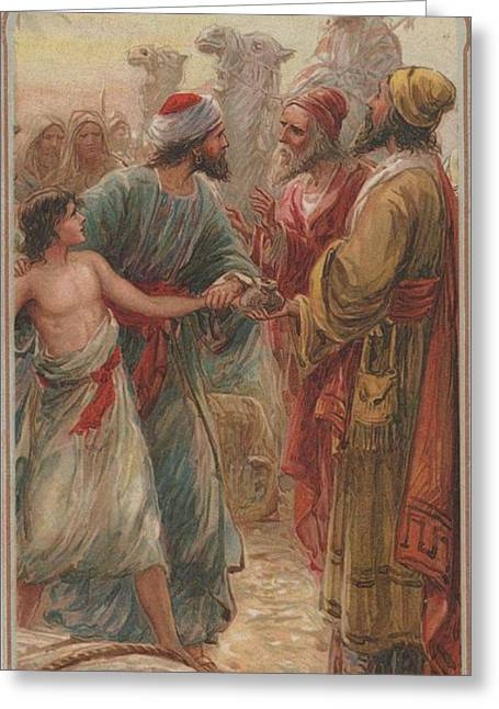 Slavery Greeting Cards - Joseph and His Breathren Greeting Card by Unknown