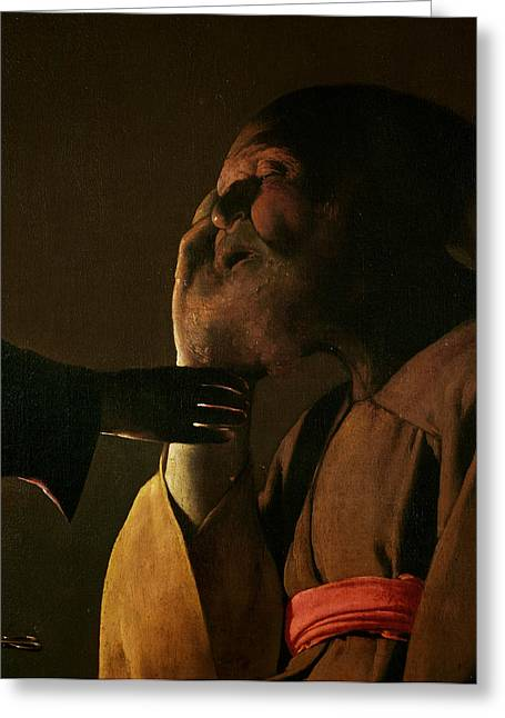 Causing Confusion Greeting Cards - Joseph and the Angel Greeting Card by Georges de la Tour