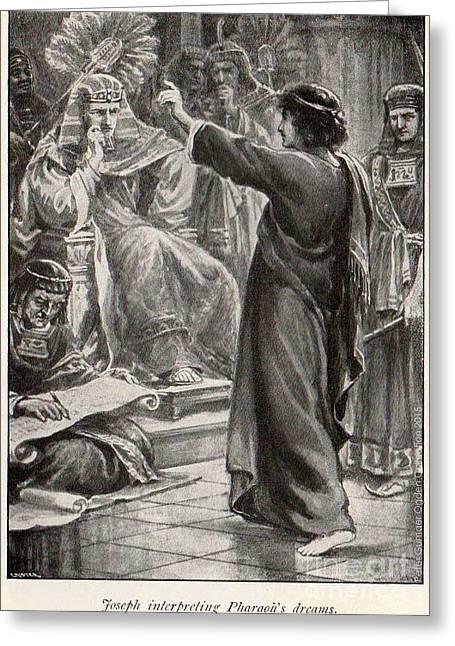 Slaves Greeting Cards - Joseph Interpreting Pharaohs Dreams Greeting Card by Unknown