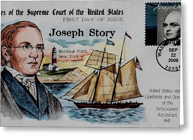 Abolition Paintings Greeting Cards - Joseph Story Greeting Card by Lanjee Chee