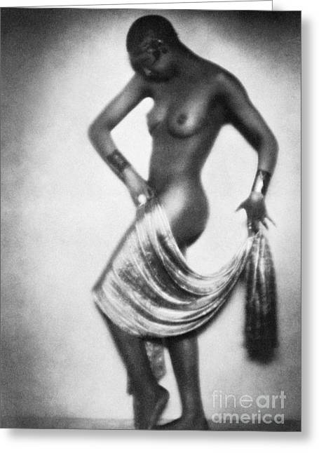 African-americans Greeting Cards - Josephine Baker (1906-1975) Greeting Card by Granger