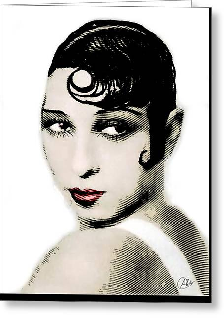 Charleston Drawings Greeting Cards - Josephine Baker drawing and engraving Greeting Card by Joaquin Abella
