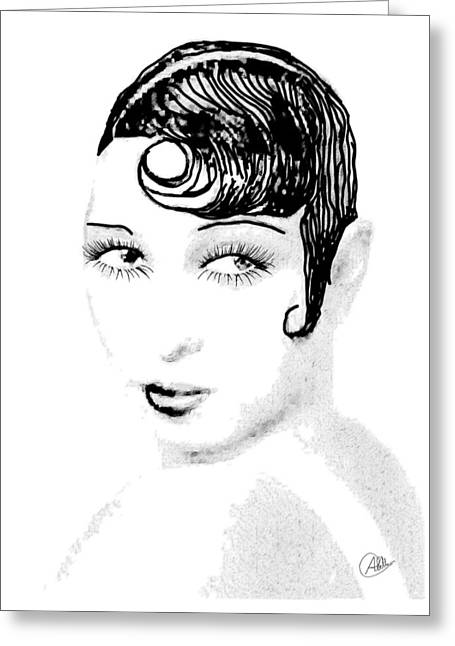 Josephine Baker Pencil Greeting Card by Quim Abella