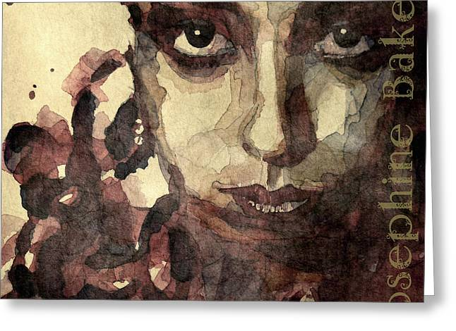 Cabaret Greeting Cards - Josephine Baker Poster Edition  Greeting Card by Paul Lovering