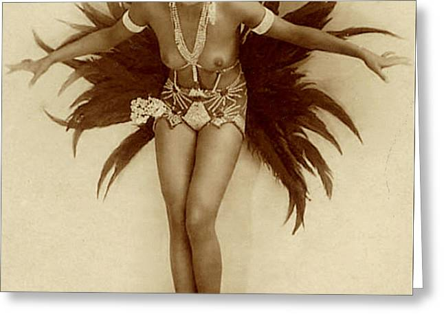 Josephine Baker Greeting Card by Stanislaus Walery