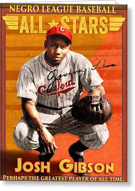 Josh Gibson Greeting Cards - Josh Gibson Greeting Card by John Gieg