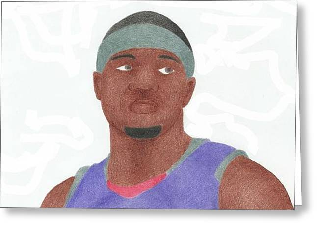 Slam Drawings Greeting Cards - Josh Smith Greeting Card by Toni Jaso