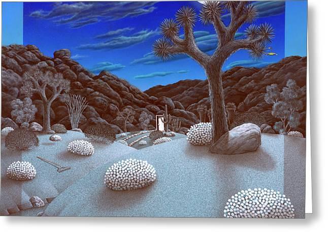Joshua Tree at night Greeting Card by Snake Jagger