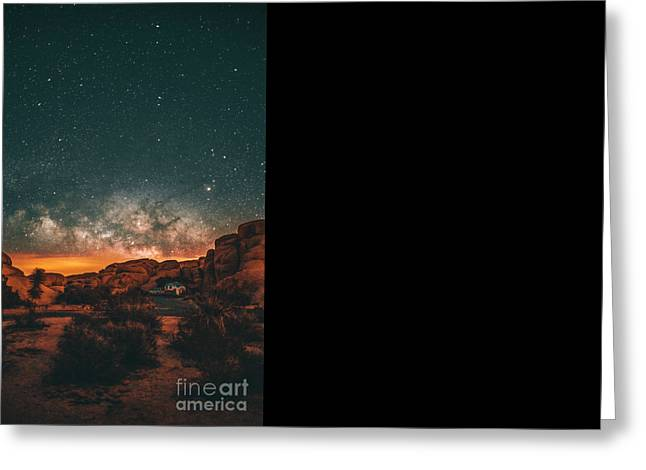 Star Greeting Cards - Joshua Tree Milky Way Greeting Card by Art K