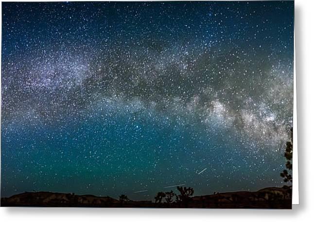 Star Greeting Cards - Joshua Tree Milky Way Panorama Greeting Card by Art K