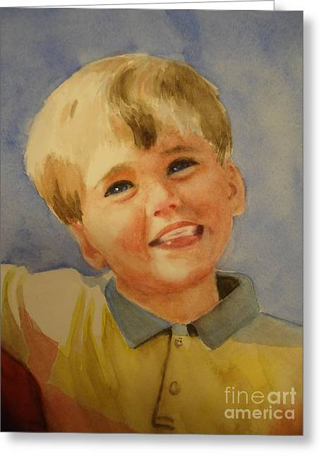 Joshua's Brother Greeting Card by Marilyn Jacobson