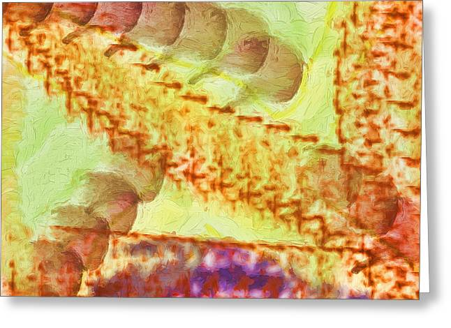 Abstract Digital Digital Greeting Cards - Journey Into Reality Greeting Card by Deborah Benoit