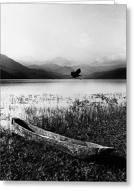 Canoe Photographs Greeting Cards - Journey Greeting Card by Jimmy Bruch