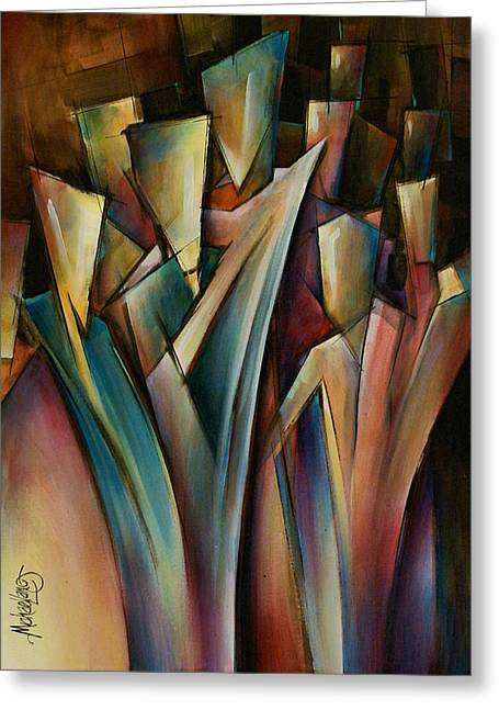 Abstract Expression Greeting Cards - Journey Greeting Card by Michael Lang