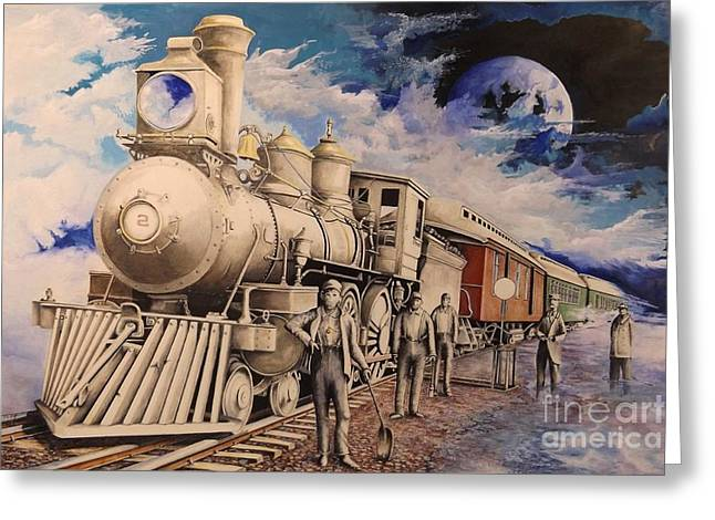 Ink Drawing Greeting Cards - Journey Through the Mists of Time Greeting Card by David Neace