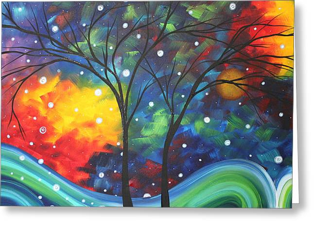 Licensor Greeting Cards - Joy by MADART Greeting Card by Megan Duncanson