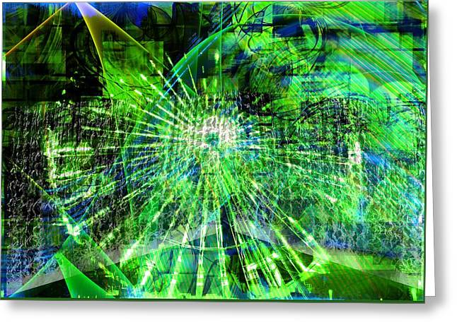 Abstract Digital Digital Greeting Cards - Joy in the Journey Greeting Card by Art Di