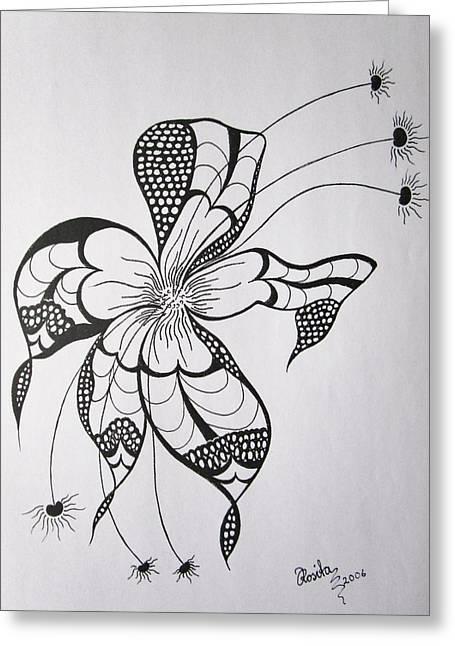 Joy Of Pattern Greeting Card by Rosita Larsson