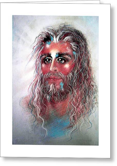 Thomas Pastels Greeting Cards - JOY Pastel Eikons of Christ Greeting Card by Vicki Thomas
