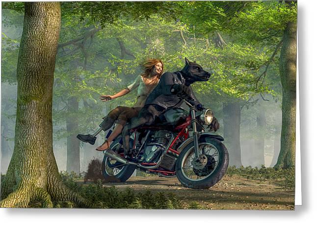Joy Ride Greeting Card by Daniel Eskridge