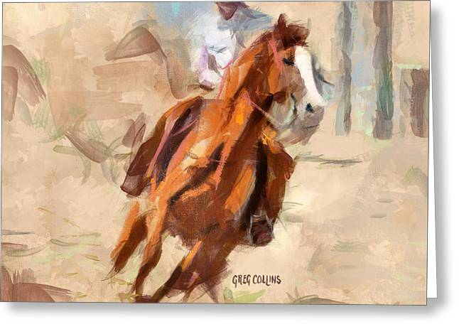 Joy Ride Greeting Card by Greg Collins