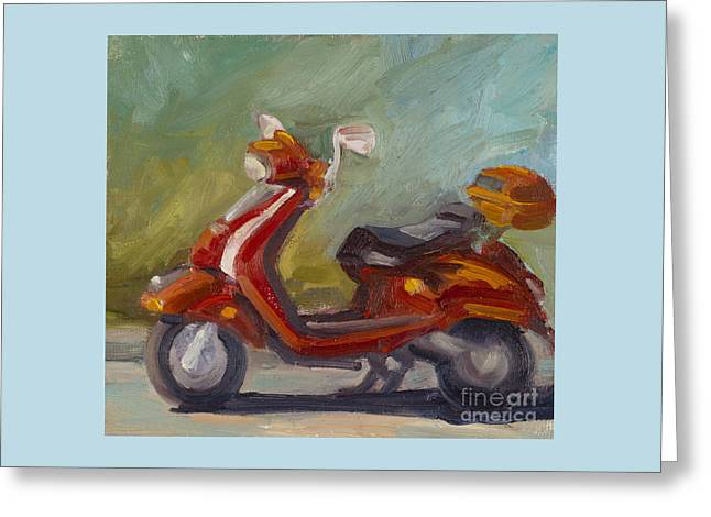 Covered Head Paintings Greeting Cards - Joy Ride Greeting Card by Julie Rumsey