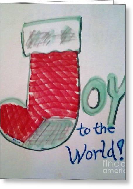 Joy To The World Greeting Cards - Joy to the World Greeting Card by Jamey Balester