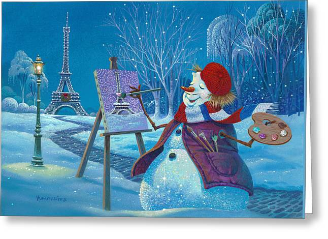Joyeux Noel Greeting Card by Michael Humphries